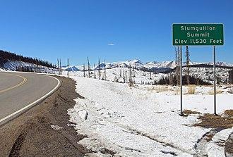 Slumgullion Pass - Image: Slumgullion Summit