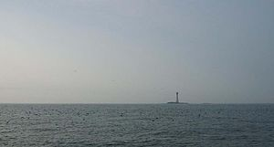 Smalls Lighthouse - The Smalls Lighthouse from several miles away