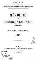 Mémoires et procès-verbaux