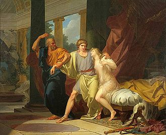 Alcibiades - Jean-Baptiste Regnault: Socrates dragging Alcibiades from the Embrace of Sensual Pleasure (1791)