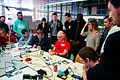Solder workshop at FIXME Hackerspace, Renens, Lausanne (2015-05-23 05.56.44 by Mitch Altman).jpg