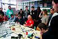 Solder workshop at FIXME Hackerspace, Renens, Lausanne (2015-05-23 05.56.44 by Mitch Altman).jpg