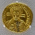Solidus of Justinian II, Second Reign, Constantinople, 705 AD, gold - Arthur M. Sackler Museum, Harvard University - DSC01501.jpg