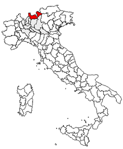 Location of Province of Sondrio