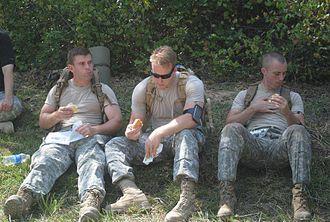 South Carolina State Guard - South Carolina State Guard members during training.