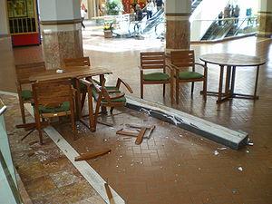 2008 Chino Hills earthquake - Earthquake damage at South Coast Plaza in Costa Mesa.
