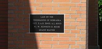 Anno Lucis - Image: South Sioux City, Nebraska city hall plaque