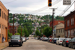South Side Slopes from E. Carson Street in South Side Flats.