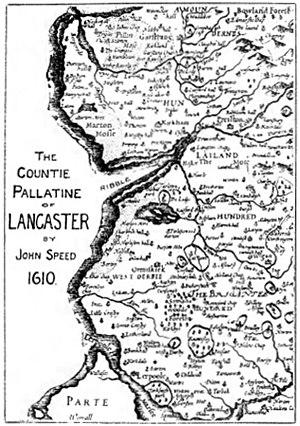 History of Lancashire - Image: Southwest.Lancashire .1610
