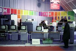 Word processors on display at a 1985 exhibition