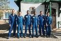 Soyuz MS-15 prime and backup crews in front of Korolev's cottage.jpg