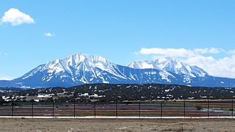 History of Colorado - East Spanish Peak, Sangre de Cristo Mountains