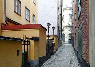 Spektens Gränd alley in Gamla stan, Stockholm, Sweden