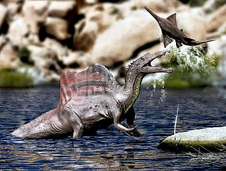 What are you eating from your garden today? - Page 13 330px-Spinosaurus_life_restoration_with_Onchopristis