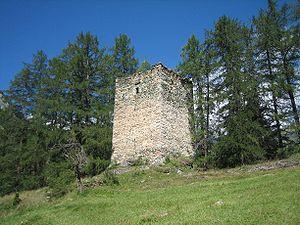 Turm der ehemaligen Burg Spliatsch