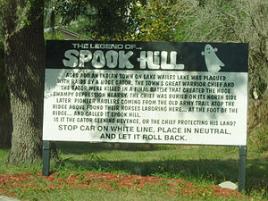 Lake Wales, Florida - The sign at Spook Hill
