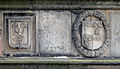 St Andrews - King James Library - coats of arms on the facade 10.JPG