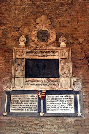 John Hutchinson (Roundhead) - Commemorative Plaque at St Margarets