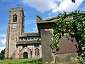 St Mary Prestwich, tower and south porch.JPG