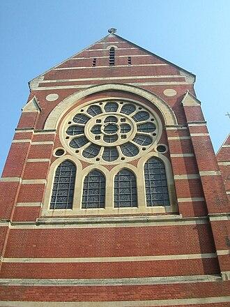 St Michael's Church, Brighton - The west windows