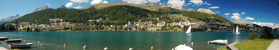 Panorama of St Moritz in 2012