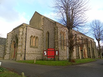Joseph Butler (architect) - St Paul's Church, Chichester. Built by Butler in 1836.