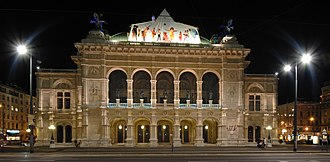 Vienna State Opera - The Vienna State Opera at night
