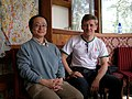 Stanislav Belov kaj Usui Hiroyuki dum Esperanto-kunsido en Pekino.jpg