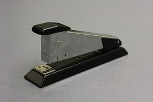 Stapler - A spring-loaded stapler