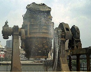 Station Square - The Fountain at Bessemer Court in Station Square features a retired Bessemer converter.