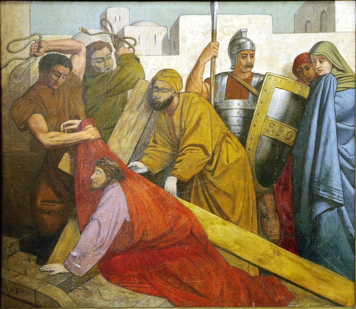 File:Stations of the Cross, 7, Saint-Jean-Baptiste au ...
