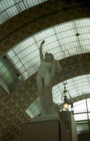 Jean-Baptiste Baujault - Jeune Gaulois or Au gui l'an neuf !, marble, 1870-1875, Paris, Musée d'Orsay