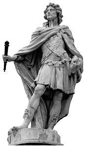 Statue of Rechiar, Suebic King of Galicia (sculpted 1750–1753), Royal Palace of Madrid, Spain - 20080109-ret.jpg