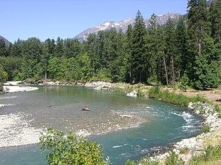 Stehekin River watercourse in the United States of America
