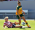 Steph Catley playing against USWNT 2012.jpg