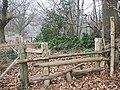 Stiles near Round Clump - geograph.org.uk - 1115534.jpg