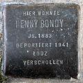 Stumbling block for Hennx Bondy (Pantaleonstrasse 18)