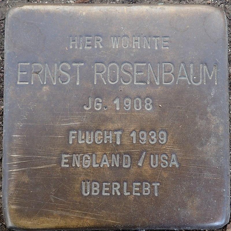 Stolperstein Duderstadt Marktstraße 37 Ernst Rosenbaum.jpg
