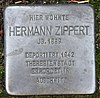 Stolperstein Luisenweg 10 (Reind) Hermann Zippert.jpg