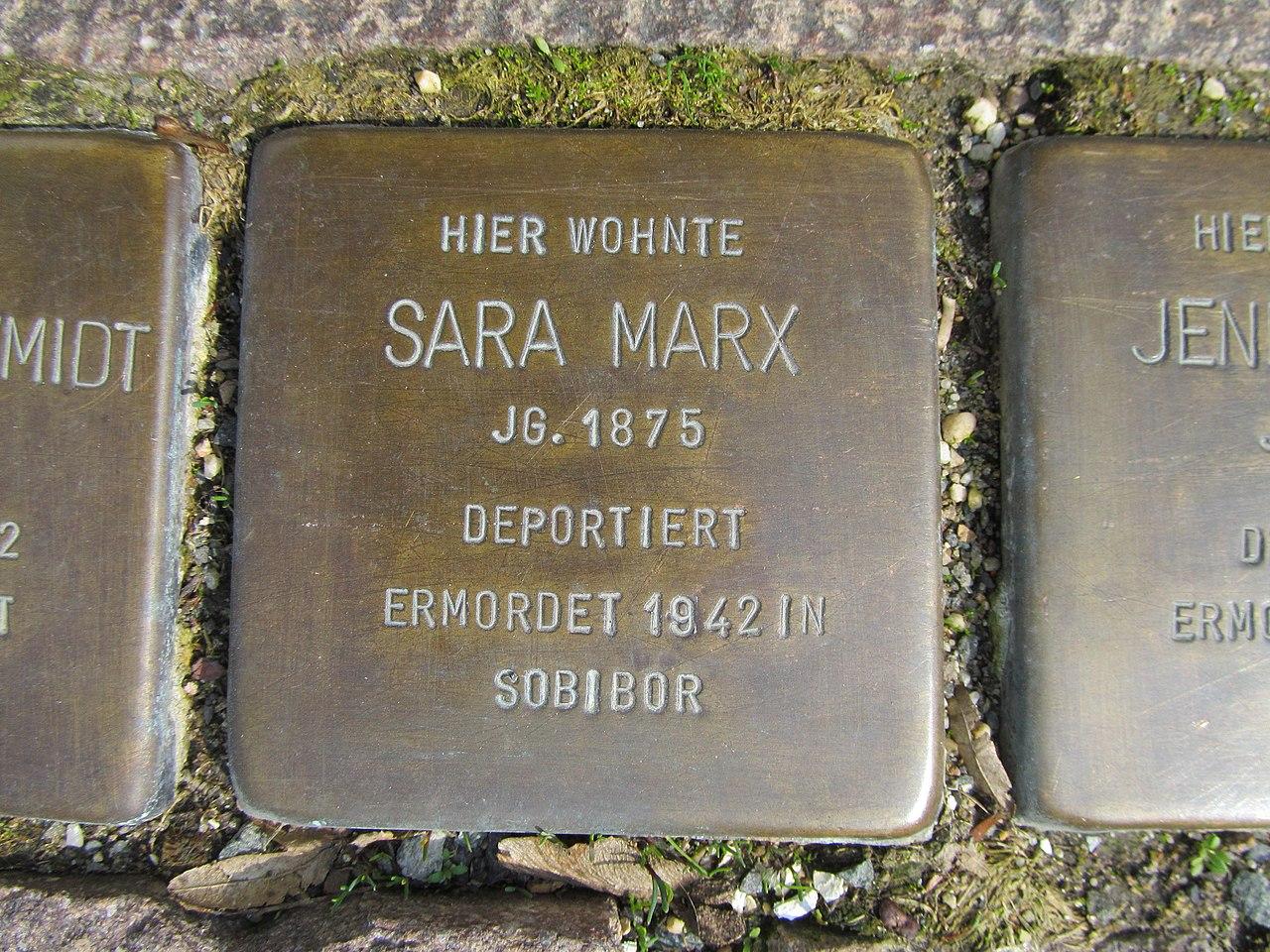 Stolperstein Sara Marx, 1, Pferdemarkt 8, Frankenberg, Landkreis Waldeck-Frankenberg.jpg