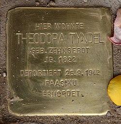 Photo of Theodora  Tyndel brass plaque