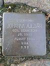 Stolperstein Wissen Maarstrasse Johanna Bär.jpg