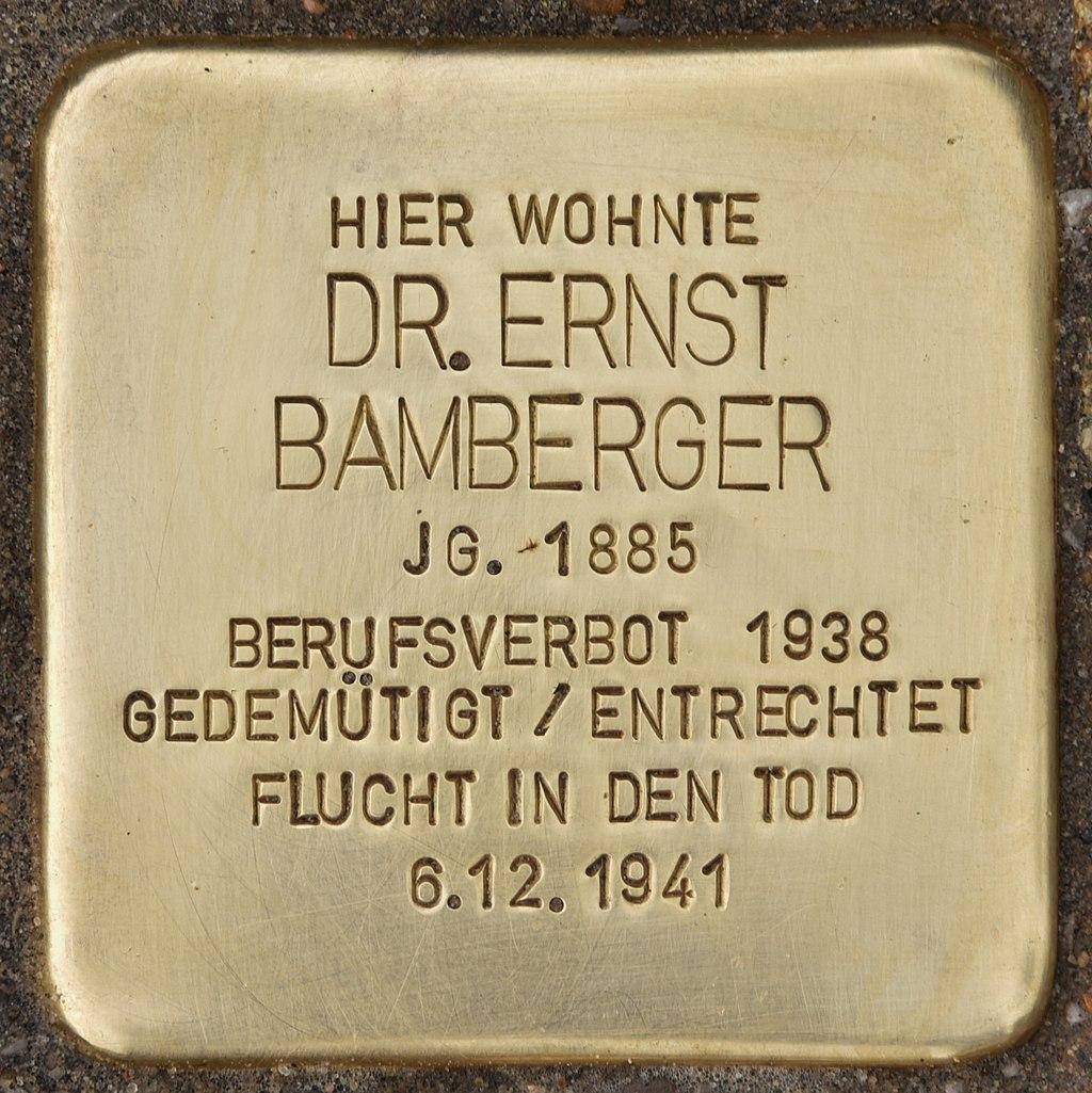 Stolperstein für Dr. Ernst Bamberger (Remmels).jpg