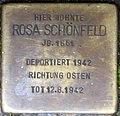 Stolpersteine Höxter, Rosa Schönfeld (Rosenstraße 2).jpg