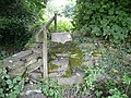 Stone stile giving access to Bagger Wood Road - geograph.org.uk - 888958.jpg