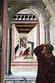 Storie di s. benedetto, 06 sodoma - Come uno prete ispirato da dio porta da mangiare a Benedetto nel giorno di pasqua 07.JPG