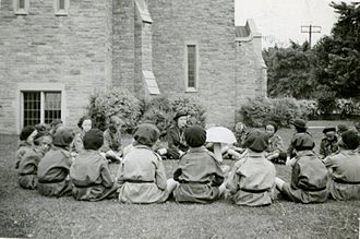 Girl Guides of Canada - An outdoor storytelling session for the 72st Toronto Pack, 1938