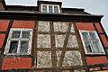 Stralsund, Am Kütertor 1, Fachwerkgebäude, Detail (2012-04-10), by Klugschnacker in Wikipedia.jpg