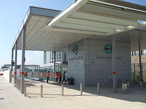 Stratford International station - DLR station soon after opening in 2011
