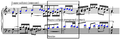 Stretto - Bach's Well Tempered Clavier Fugue no. 1 mm. 21-23.png